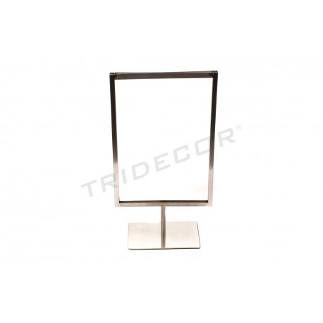 009373 Portacarteles A4 en mat acer . Tridecor