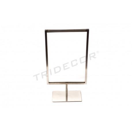 009373 Portacarteles A4 in matte steel . Tridecor