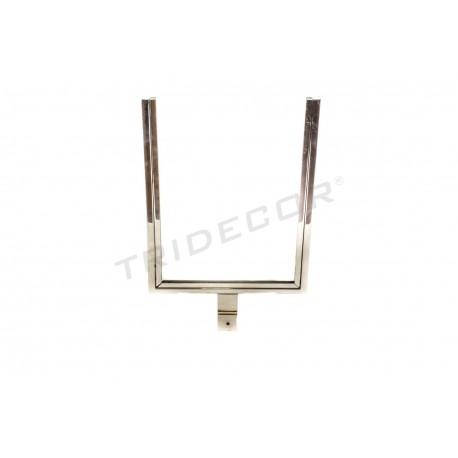 009740 Portacarteles per sbarra rettangolare 37x23 cm Tridecor