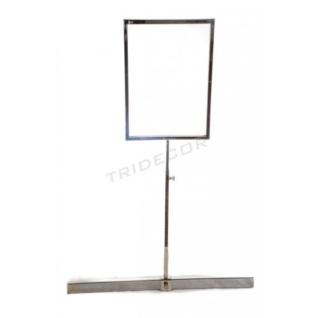 009780 Portacarteles A4 for rectangular bar . Tridecor