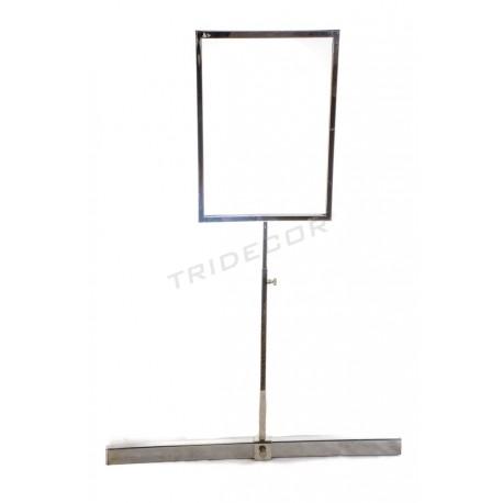 009780 Portacarteles A4 pour barre rectangulaire . Tridecor