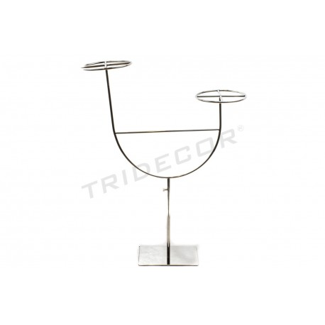 EXHIBITOR ADJUSTABLE CHROME-PLATED FOR 2 HATS