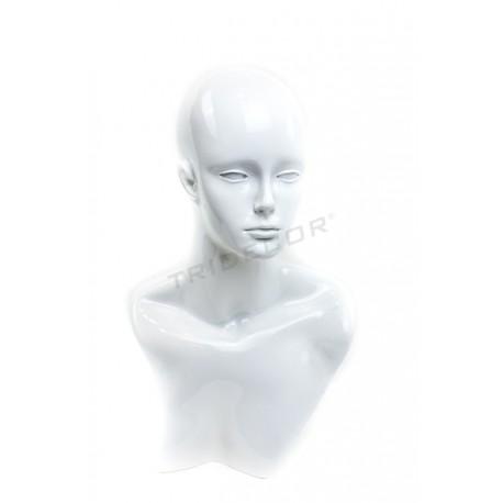 女人的头-白色光泽
