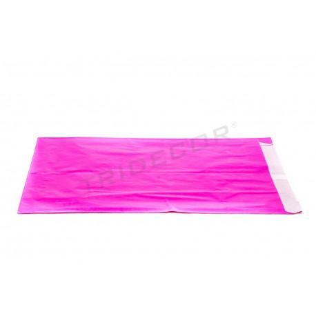 Sobre de papel celulosa fucsia 18+4x29cm 50 unidades