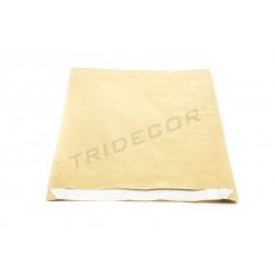 Envelope de papel celulose ouro 18+3.5x29cm 50 unidades