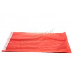 Sobre de papel celulosa rojo 26+5x35cm 50 unidades