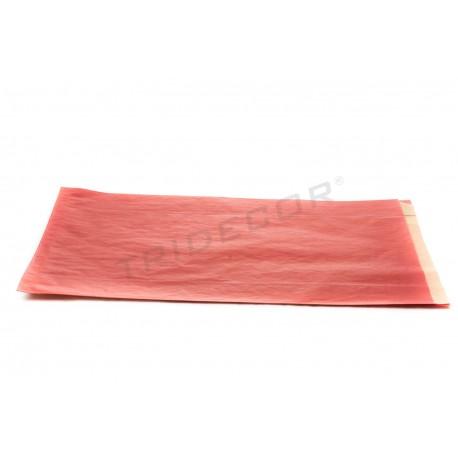 Sobres de paper kraft vermell 21.5+6.5x36cm 50 unitats