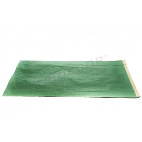 En paper kraft de color verd fosc, 30x50+8 cm, 50 pc. tridecor