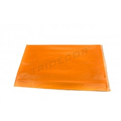 Sobre de papel kraft naranja 30+8x50cm 50 unidades