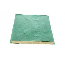 Sobre de papel kraft verde 18+7x27cm 50 unidades