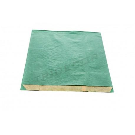 Sobre paper kraft verd 18+7x27cm 50 unitats