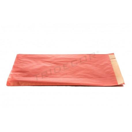 En paper kraft de vermell 7x18x29cm 50 unitats