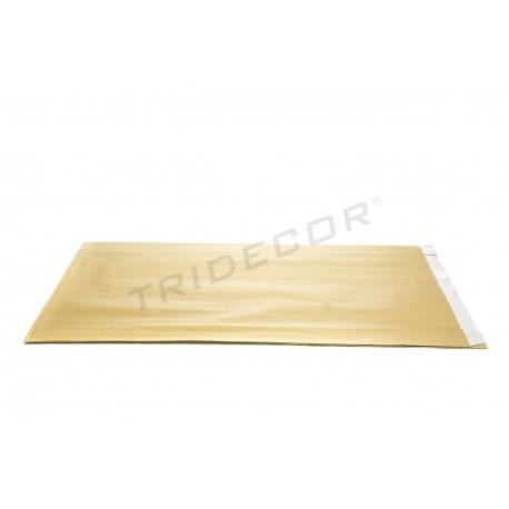 Sobre de papel celulosa oro 30+7.5x49.5cm 50 unidades