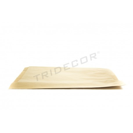 Sobre de papel kraft havana 26+4.5x35cm 50 unidades