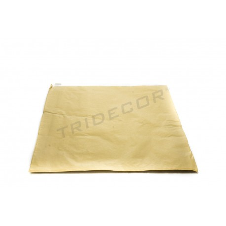 Envelope de papel celulose ouro 26+4.5x35cm 100 unidades