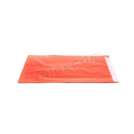 Envelope de papel celulose vermelho 18+4x29cm 50 unidades