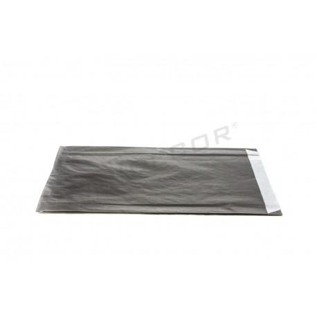 Sobre de papel celulosa negro 18+4x29cm 50 unidades