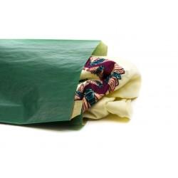 En paper kraft de color verd fosc 21.5+6.5x36cm 50 unitats
