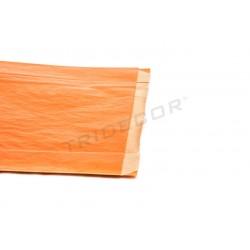 Sobre de papel kraft naranja 21.5+6.5x36cm 50 unidades