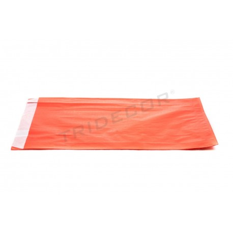 No papel, pasta de papel vermello 18+4.5x29cm 100 unidades