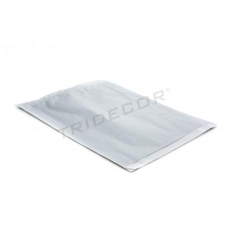 Sobre de papel celulosa plata 26+4.5x35cm 50 unidades