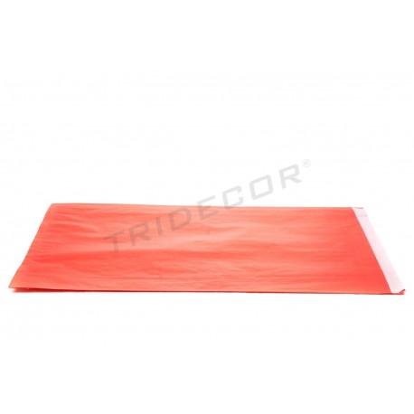 Sobre el paper de cel·lulosa de color vermell 30+7.5x49.5 cm 50 unitats