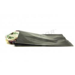 Sobre de papel celulosa negro 26x35+4.5 cm. 50 uds