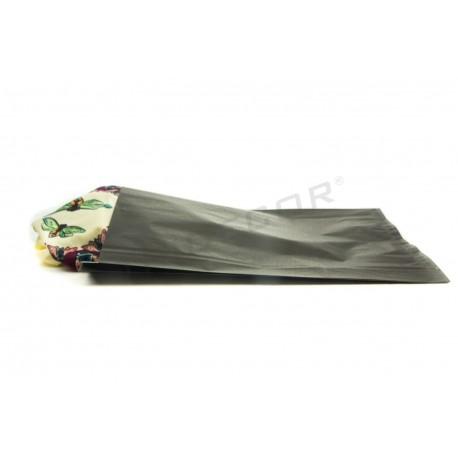 Sobre de papel celulosa negro 26+4.5x35cm 50 unidades