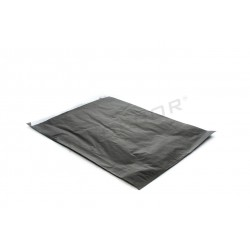 Sobre de papel celulosa negro, 26x35+4.5 cm. 100 uds. tridecor