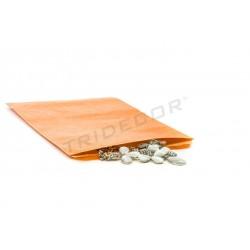 En papel kraft laranxa 14x20+5 cm 50 unidades