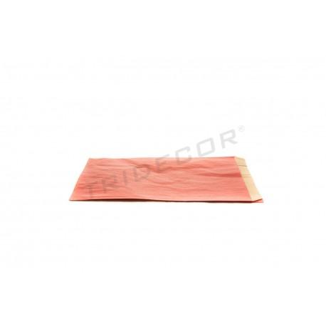 En papel kraft de vermello 14x20+5 cm 50 unidades