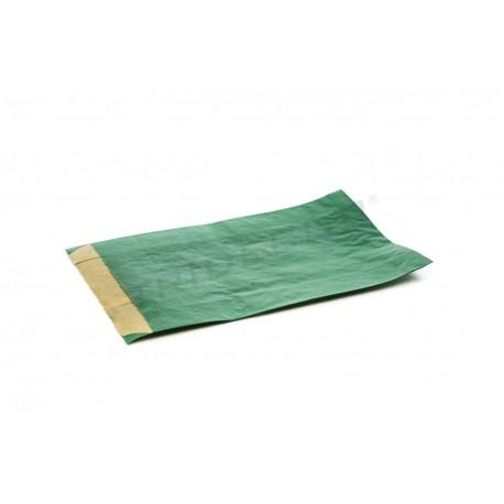 En papel kraft verde escuro 14x20+5 cm 50 unidades