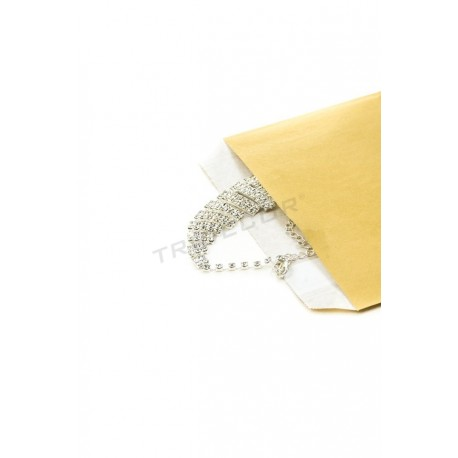 No papel de celulosa de ouro 15x19cm 50 unidades