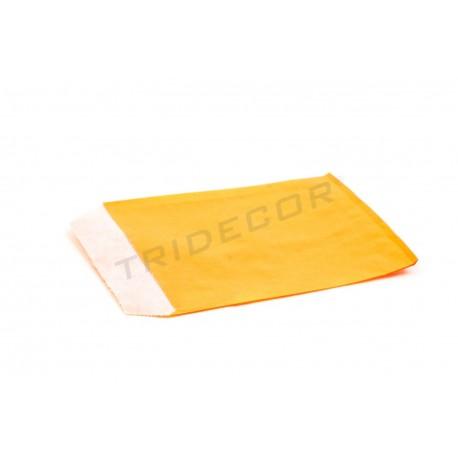 Sobre o papel, celulose laranja 8x10.5cm 100 unidades