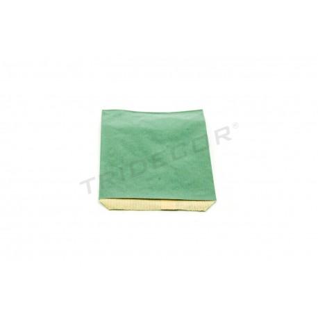 Sobre papel kraft verde oscuro 9x13cm 100 unidades