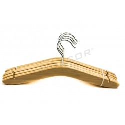 Percha de madera natural 35.5 cm