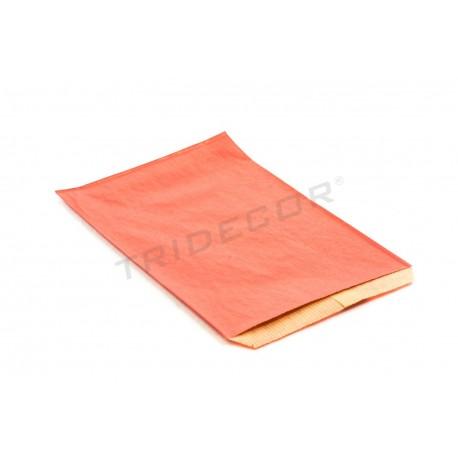En papel kraft de vermello 13.5x20cm 50 unidades