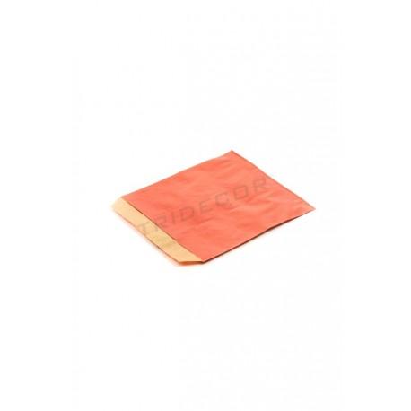 Sobre papel kraft vermelho 12x14cm 50 unidades