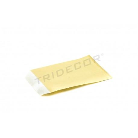 Sobre papel celulosa oro 9x14cm 100 unidades