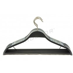 HANGER WITH BAR AND NON-SLIP SILICONE 43CM