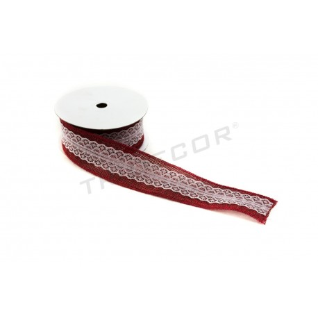 TAPE CLOTH BAG RED WITH LACE UP 9 M
