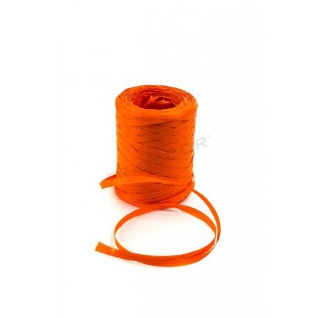 带纤维合成橙色