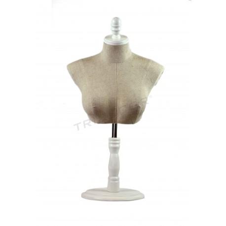 Busto superior regulável feminino pé branco