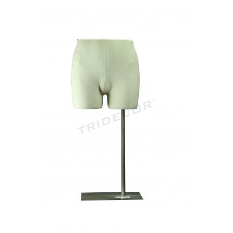 Bust inferior masculí ajustable amb roba de tela de color beix