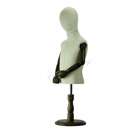 Bust regulables nen-cap, braços articulats, tridecor