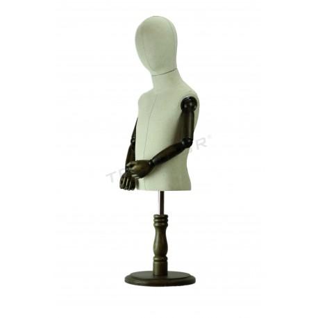 Busto infantil regulable, con cabeza y brazos articulados, tridecor