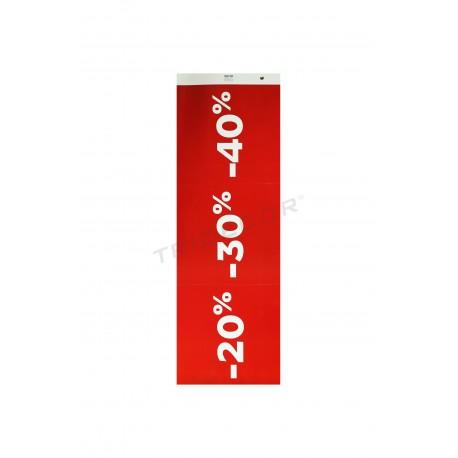 Poster di vendita per i negozi del 20% 30% 40% rosso scuro