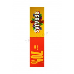 POSTER DISCOUNTS, 70%. HORIZONTAL, RED AND YELLOW