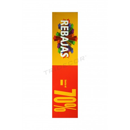 Poster sales to stores horizontal 70% red/yellow