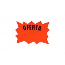 Cartel de oferta para tiendas naranja
